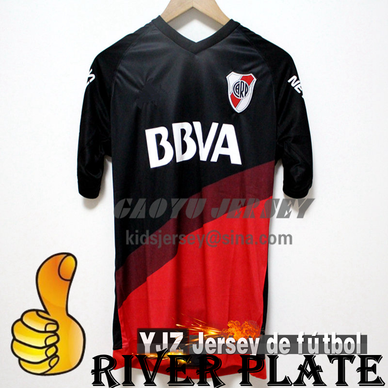 Top New! 15/16 River Plate Soccer jersey Home Away BALANTA CAVENAGHI R MORA shirt 2015 2016 Argentine league River Plate Jerseys(China (Mainland))