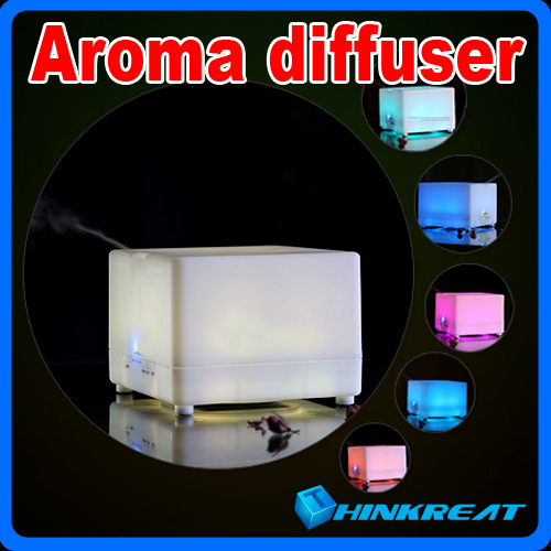 Ultrasonic 700ML Colorful LED Aroma Diffuser With Anion Perfume Diffuser humidifier air freshener for Home/Office X-07#(China (Mainland))