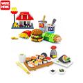 McDonald s Wisehawk Hamburger Food Series Building Block Toy Diamond Brick Kid Christmas Gift best birthday