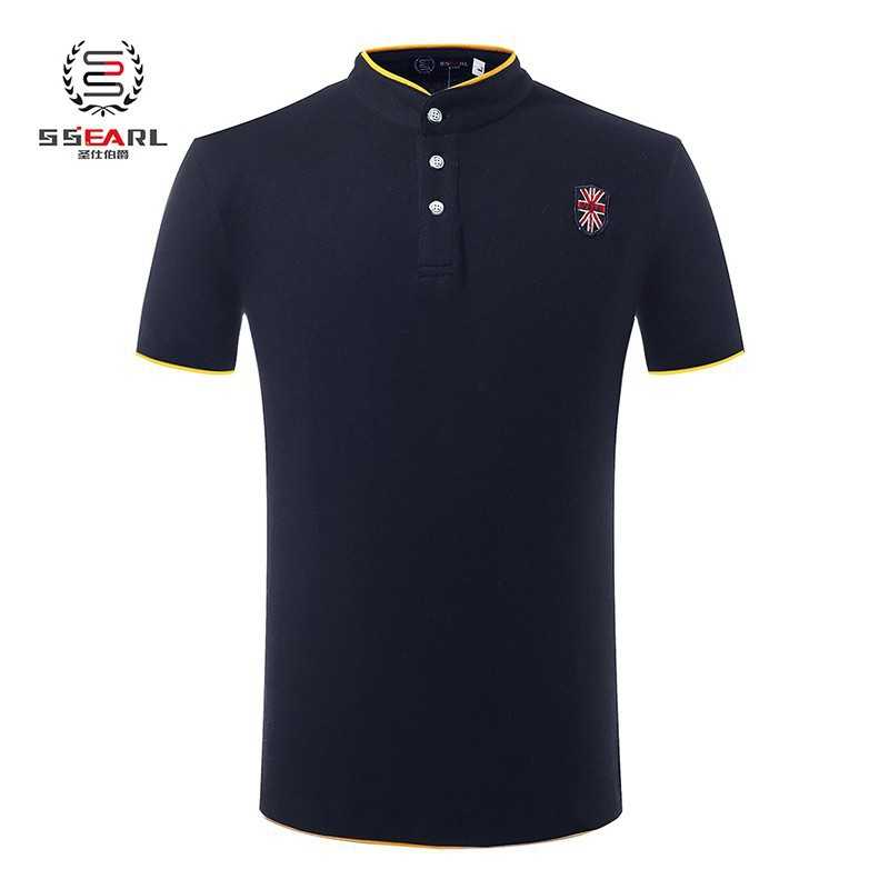 Classic polo shirt men brand pure color knit camiseta polo for Knitted polo shirt mens