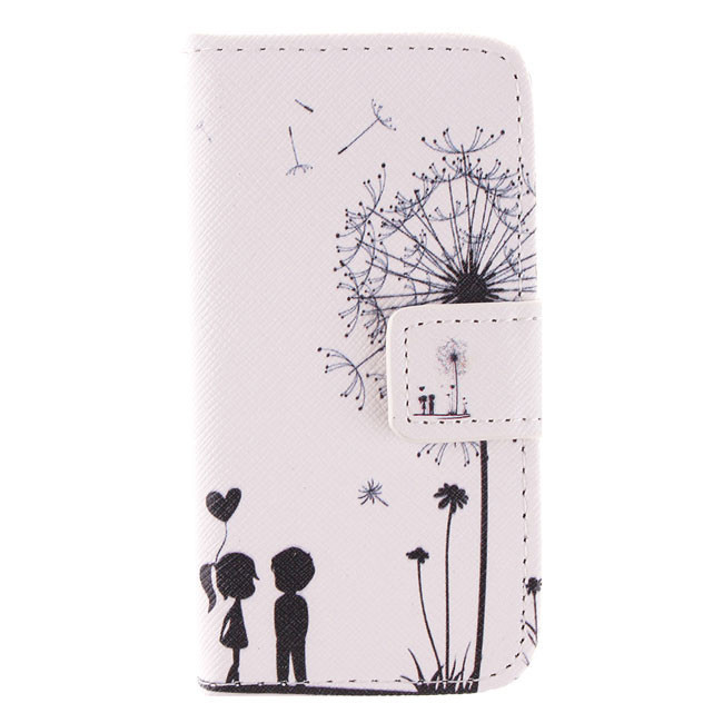 Apple iPhone 4 / 4S 5 5S 5C 6 4.7'' Cell Phone Case Cover Leather Flip Magnetic Wallet Cute Cartoon Dandelion Love - WOWSAVER store