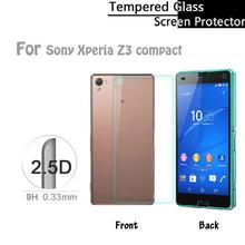 Передняя и задняя 2.5D круглый EdgeTempered протектор для Sony Xperia Z3 компактный Z3mini премиум защитная пленка
