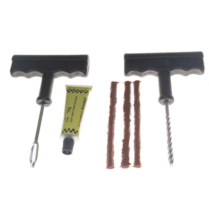 Car Bike Auto Tubeless Tire Tyre Puncture Plug Repair Tool Kit Puncture Tubeless Tire Plug Repair Tool 6pcs per set(China (Mainland))
