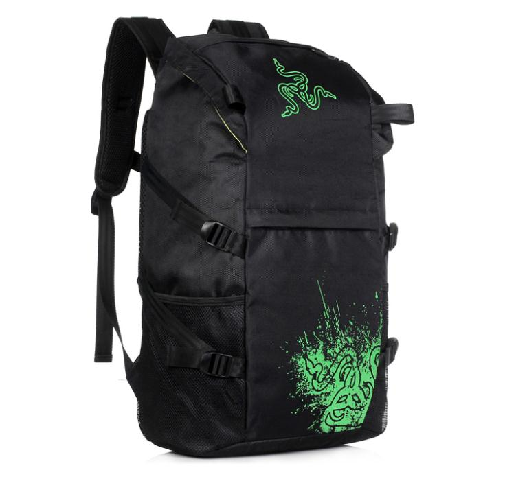 Razer Gaming Keyboard Mouse Mice Pad Headphone Team Backpack Tactical Backpack For Games Gamer(China (Mainland))