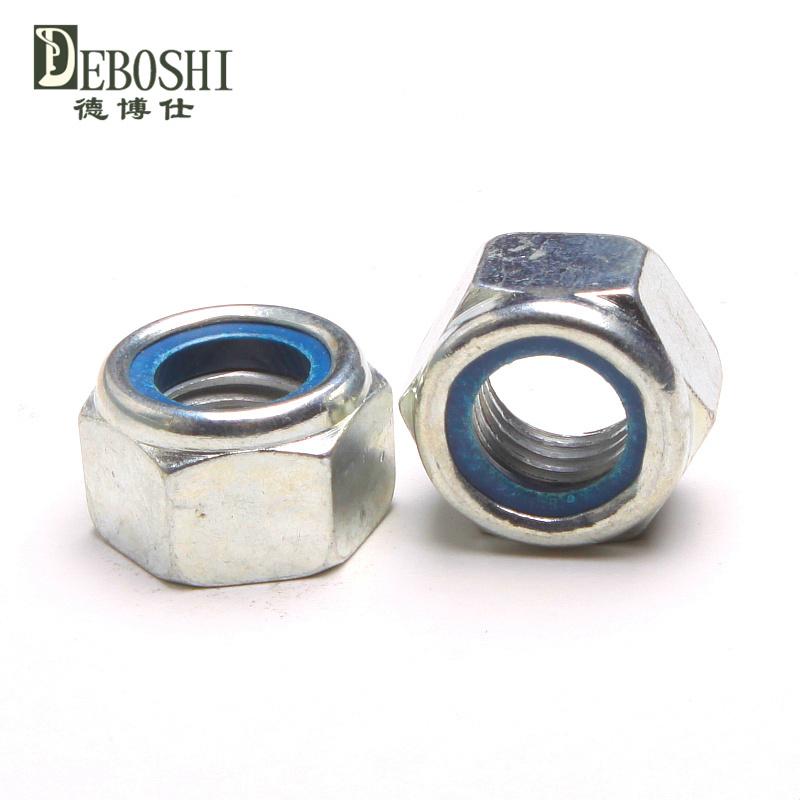 Cheap galvanized self-locking nut / nylon lock / locknut M8(China (Mainland))