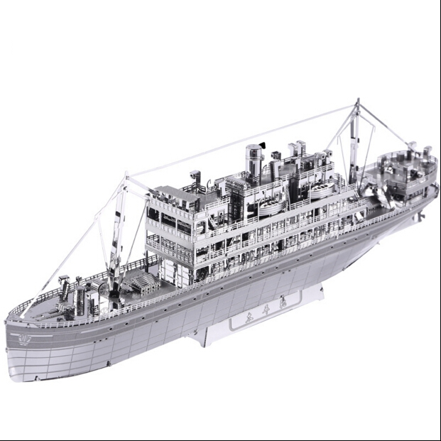 3D jigsaw puzzles for kids 3D Nano metal DIY scale Pacific round Model Building architecture educational ship model toys(China (Mainland))