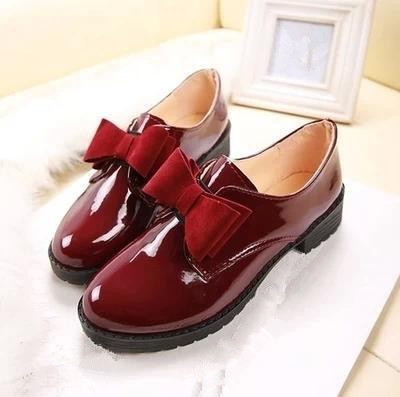 Туфли женские без каблука на платформе