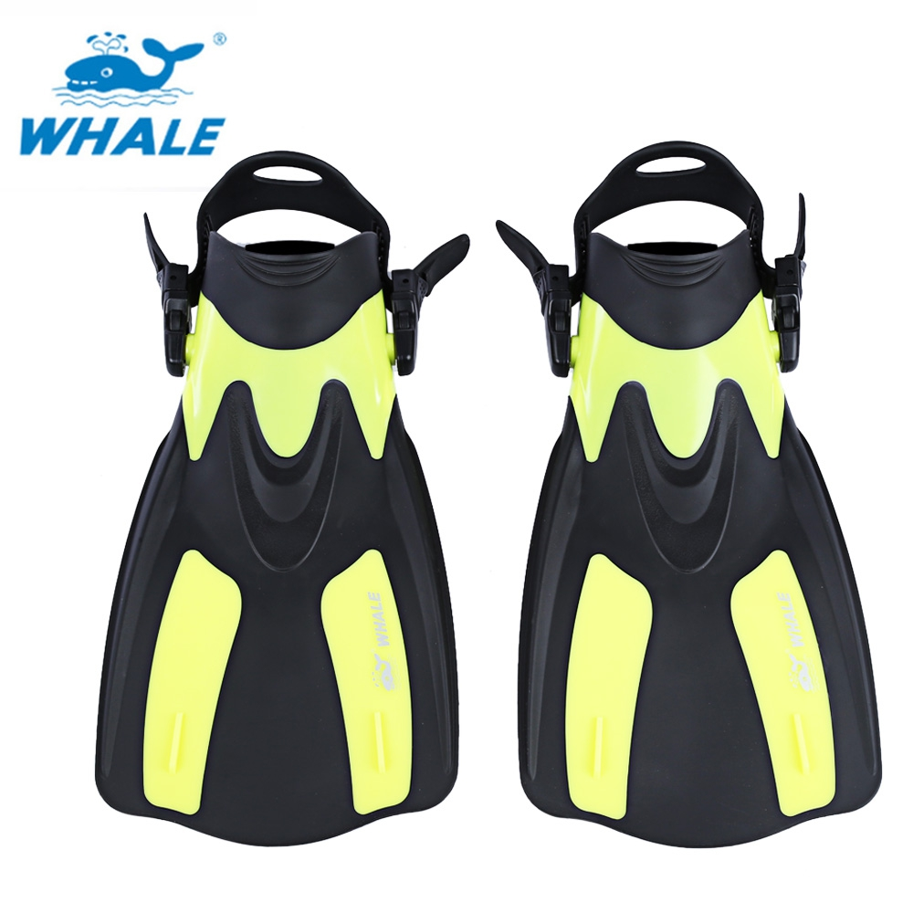 WHALE Snorkeling Diving Swimming Fins Trek Snorkeling Foot Flipper Swimming Diving Comfortable 2 Size for Professional Diver(China (Mainland))