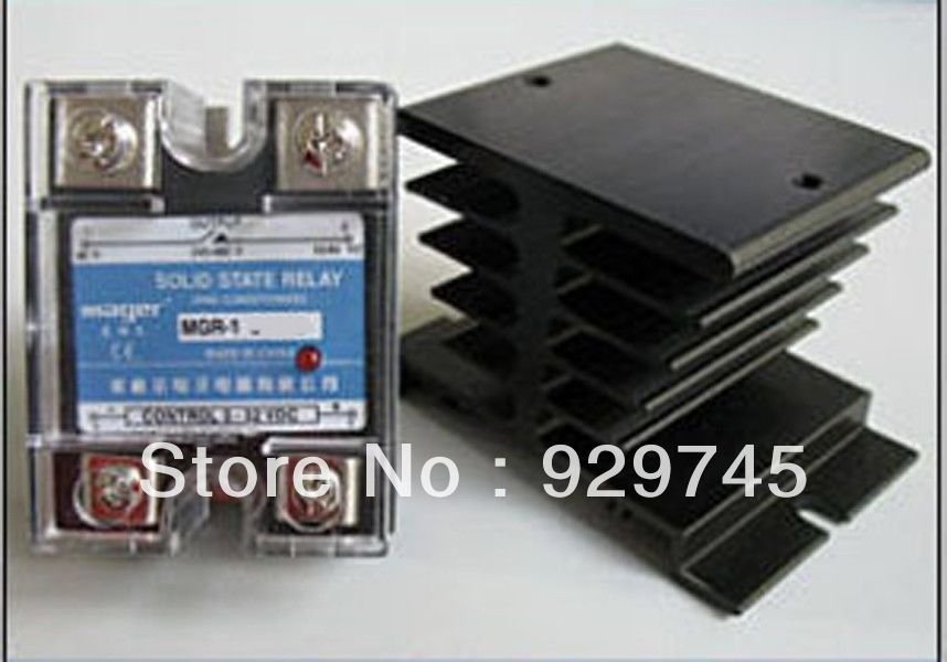 2set Solid State Relay SSR 5-220V DC, 40A + Heat Sink<br><br>Aliexpress