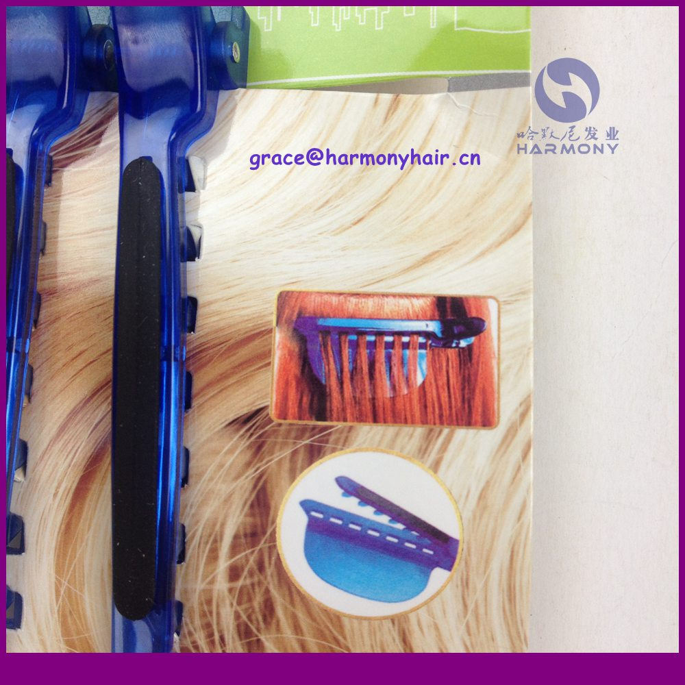 FREE SHIPPING hair extension speed separator clip 24pcs/lot in blue color separator clip with splits for hairdresser in salon<br><br>Aliexpress