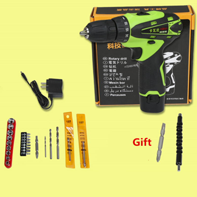 12V Electric Screwdriver Lithium Battery Rechargeable Parafusadeira Furadeira Multi-function Cordless Electric Drill Power Tools(China (Mainland))
