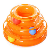 Buy Funny Pets Toys Three Layers Tracks Ball Disk Cat Tower Intelligence Musement Pet Cat Tracks Toy for $7.92 in AliExpress store