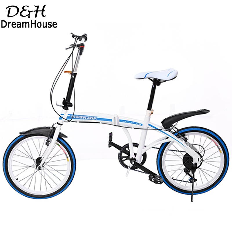 Hot Sale Foldable Sports 6 Speed Bicycle Bike Folding Bicycle Cycling Red/Blue 2016 New Arrival(China (Mainland))