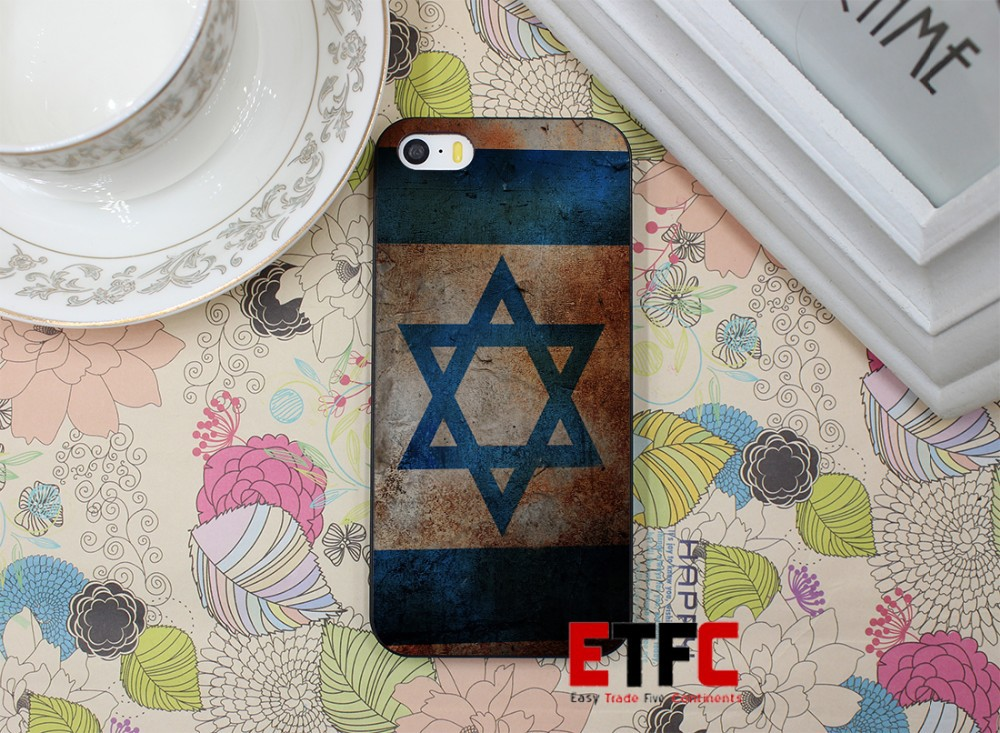 Vintage Israel Flag New Fashion Design Hard Black Skin for iPhone 5 5s 5g Case Cover