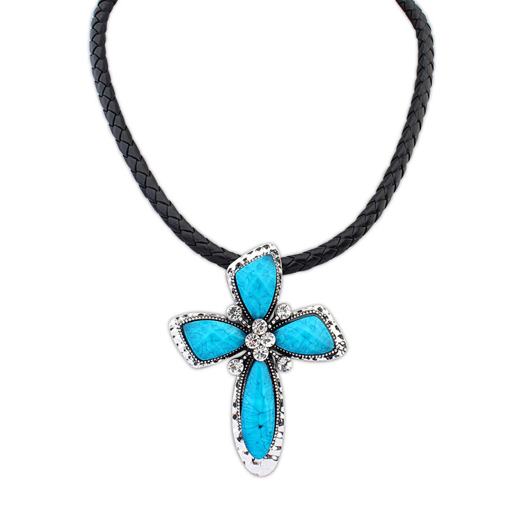 2015 Hot Sale Unisex Jewelry Necklaces Pendants Export New Pendant And Personality Punk Cross Necklace Exaggerated Ornaments(China (Mainland))