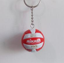 Deporte playa voleibol PVC llavero Fútbol Playa llavero regalos de cumpleaños(China)