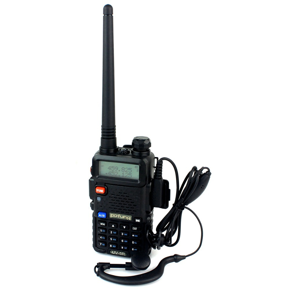 Hot Baofeng UV 5R Pofung Portable Radio UV-5R 5W Walkie Talkie 128CH VHF + UHF VOX Dual Band Radio A7108A