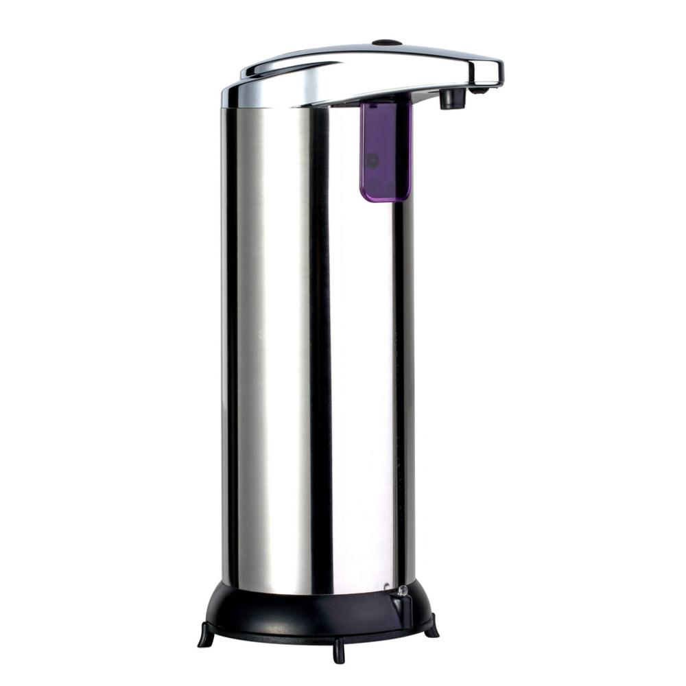 1pc Automatic Sensor Soap Dispenser Base Wall Mounted Stainless Steel Touch-free Sanitizer Dispenser For Kitchen Bathroom New(China (Mainland))