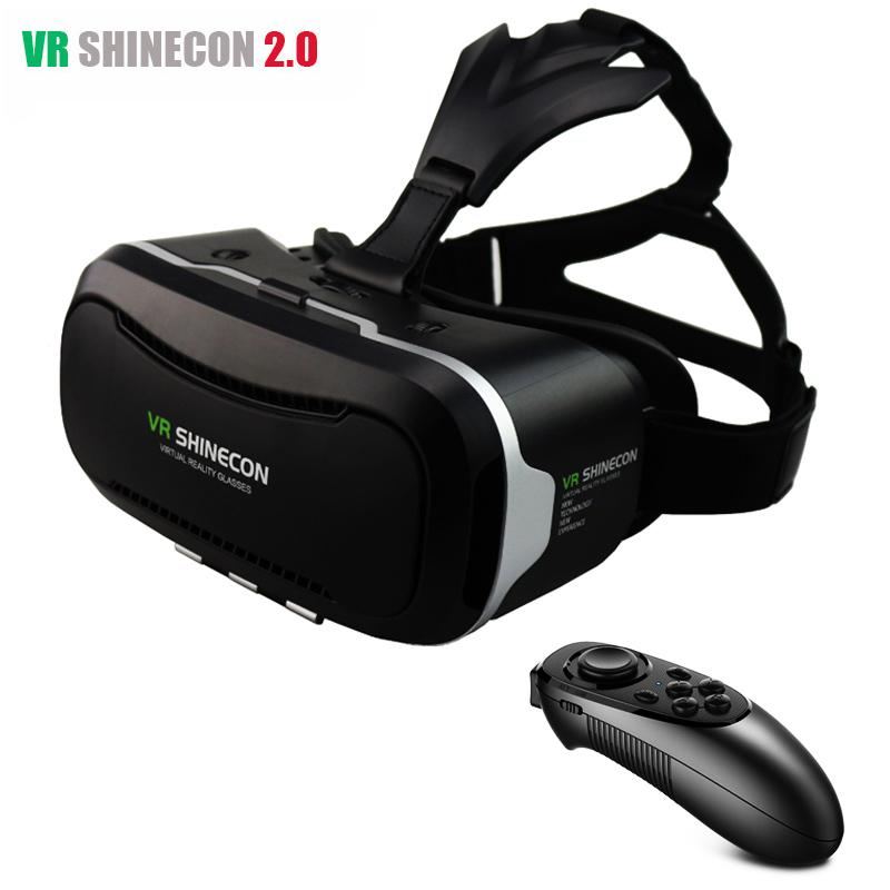 Original Shinecon VR 2.0 II Leather Headset 3D Max Virtual Reality Glasses Headset Google Cardboard Head Mount Mobile Helmet(China (Mainland))