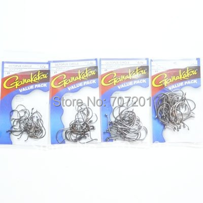 GAMAKATSU OCTOPUS CIRCLE HOOK VALUE PACK 1/0 2/0 4/0 5/0