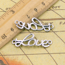 Buy 10pcs Charms love connector 37*14mm Tibetan Silver Plated Pendants Antique Jewelry Making DIY Handmade Craft for $1.49 in AliExpress store