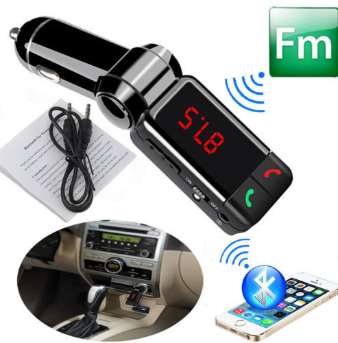 Handsfree Bluetooth Car Kit Dual USB Charger Stereo MP3 Player FM Transmitter(China (Mainland))
