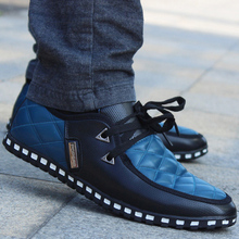 2015 Newest British Style Men's flats Fashion Breathable Lace-Up Casual Zapato men Sneakers casual men Shoes Free Shipping