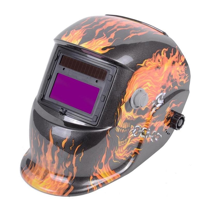 4 Arc Sensor Big Sreen Solar And LI Battery Auto Darkening TIG MIG ARC MMA MAG Electric Welding Mask Helmet Welder Cap 4 Color(China (Mainland))
