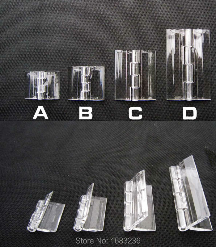 6pcs Clear Transparent Acrylic Plastic Hinge Box Piano Plexiglass Hinge(China (Mainland))