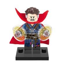Único Infinito Guerra Marvel Avengers Homem De Ferro Capitão América Homem-Aranha building blocks toy Doutor Estranho para as crianças(China)