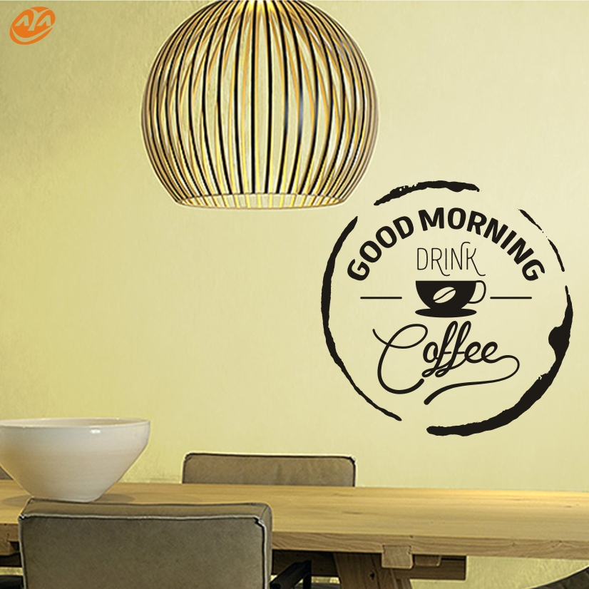 AYA DIY Wall Stickers Wall Decal,Good Morning English Words PVC Wall Stickers(China (Mainland))