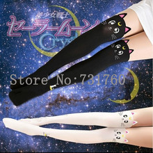 Anime Sailor Moon Cosplay Luna chat motif collants collants Leggings chaussettes(China (Mainland))
