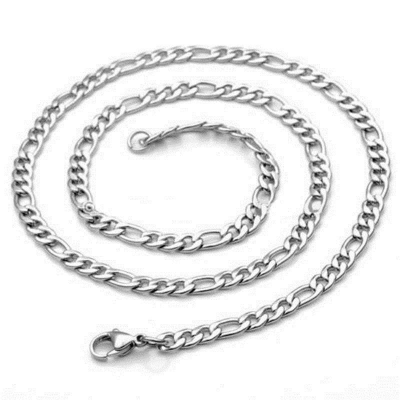 Hot Jewelry Silver 2mm Italy Figaro Chain Necklace Pendant For Girls Xmas Gift(China (Mainland))