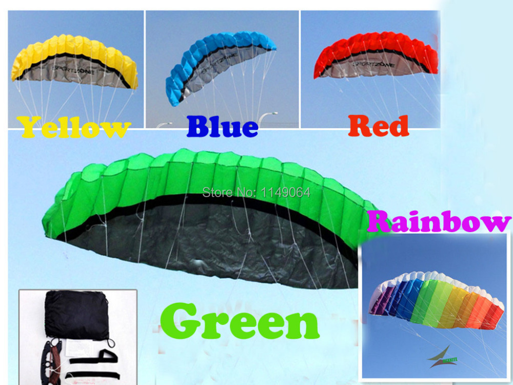 free shipping high quality 2.5m dual line stunt power kite surf with control bar and line easu control so exciting outdoor toys(China (Mainland))