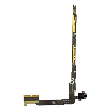 100% Guarantee Original headphone jack flex cable with PCB board for new iPad 3 3rd generation free shipping(4G version)