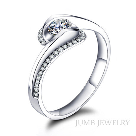 18k gold plated with aaa cubic zirconia rings wholesale