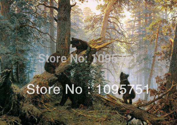 Needlework Crafts&Gift Home decor French DMC Quality Counted Cross Stitch Kit/Set 14ct Oil Painting Morning In A Pine Forest