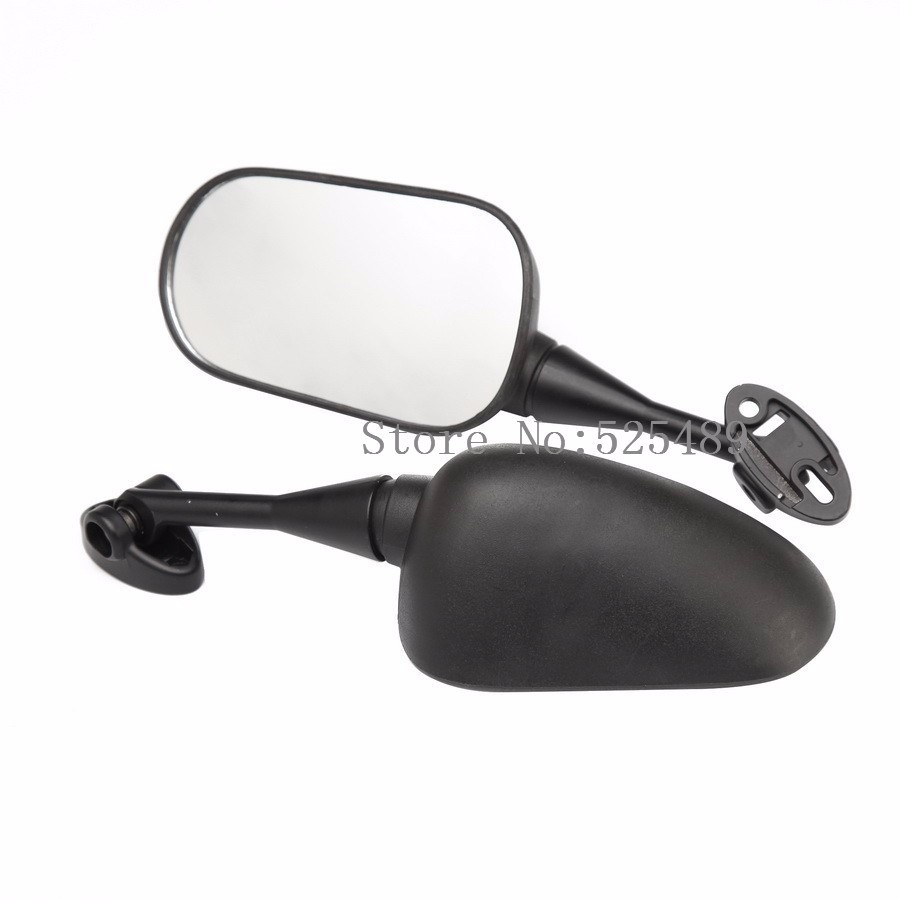 New 1 Pair Black Motorcycle Side Mirrors Motorbike Rearview Mirrors Universal For Honda CBR1000RR 2004-2007 CBR600RR 2003-2011