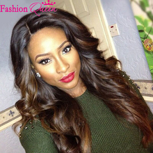 8A High Quality Ombre Lace Wig Two Tone Glueless Silk Top Full Lace Wigs Ombre Silk Top Lace Front Wigs Cheap Human Hair Wigs(China (Mainland))