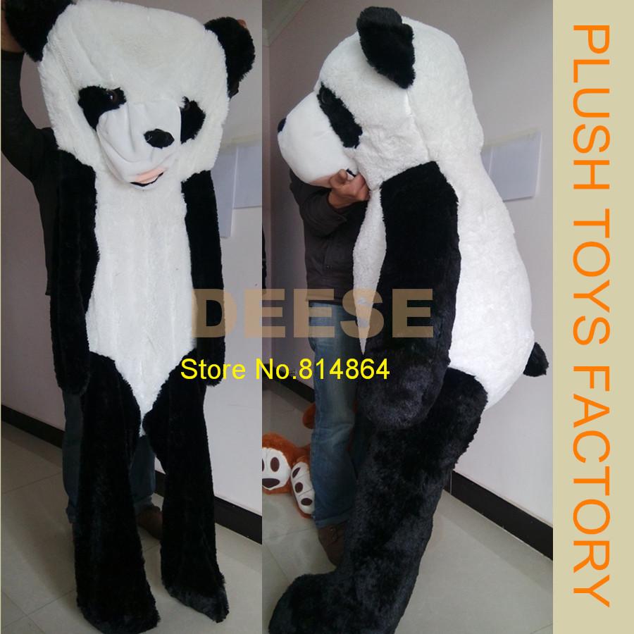 2016 New160cm Big Panda Bear Skin Plush toys for KIDS (Without Stuff) Teddy Bear Toys High Quality Plush doll Pillow<br><br>Aliexpress