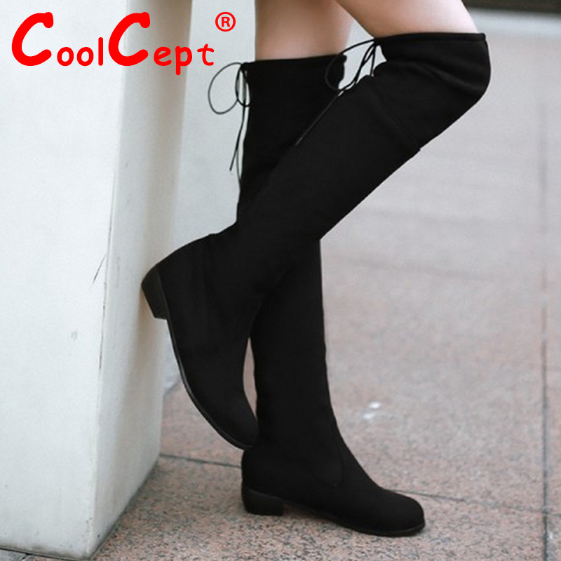 women flat over knee boots snow boot vintage warm winter botas cotton fashion quality masculina footwear shoes P19819 size 34-39<br><br>Aliexpress