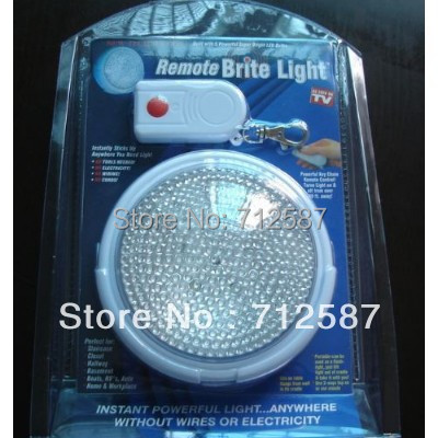 1pc LED Remote Brite Light Wardrobe Bedside Lamp Camping Garage LED Light As Seen On TV free shipping(China (Mainland))