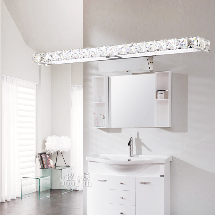 Modern brief bathroom led mirror light dressing table for Dressing table with lights