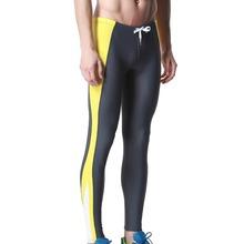 DESMIIT Men's Triathlon Tights Fitness Pants Long Sexy Men Exercise Pants Gym Running Biking Pants Sweatpants Men SwimSuit DT26