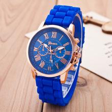 Vogue Jewelry Watch Geneva brand Quartz Lady Dress Watch Female Males Sports Casual Wristwatch silicone Clocks