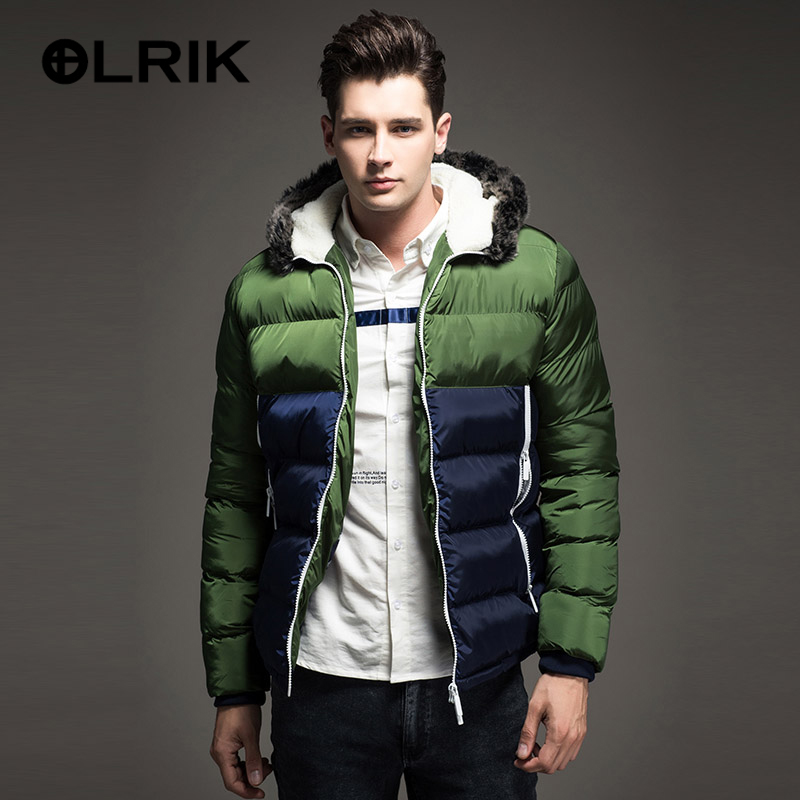 OLRIK 2016 Winter Jacket Men Cotton Coats Zipper Brand New Mens Casual Thick Outwear Size 3XL - Unique store