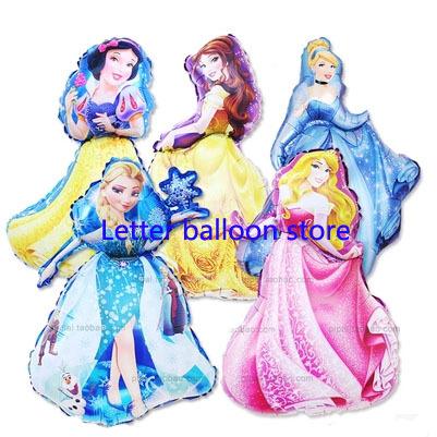 NEWEST 1pc/lot 93*55cm princess Elsa Anna party baloon decoration large Princess party ballons Snow White balloons mylar(China (Mainland))