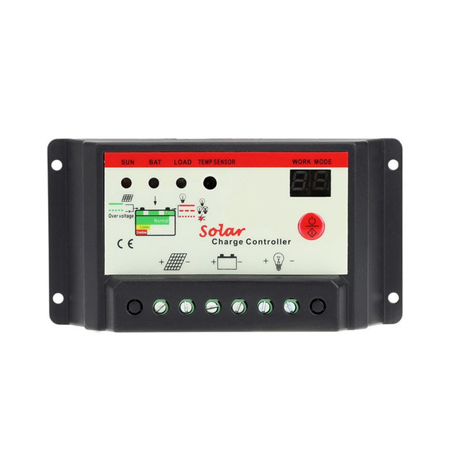 10A 20A 30A 12V 24V Solar Cell panels Battery Charge Controller Timer for LED street lighting or solar home system