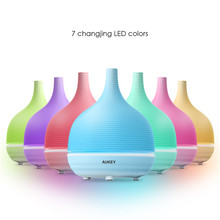 Aukey 500ML Aromatherapy Essential oil Diffuser Air Purifier Ultrasonic Cool Mist with Color LED light and Auto Timer(China (Mainland))