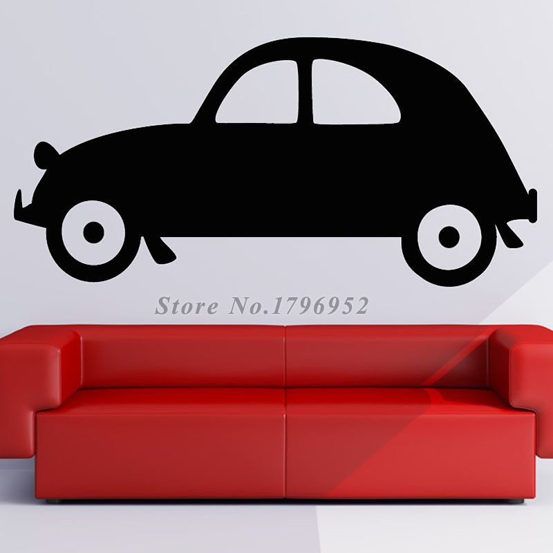 Cars Cartoon Wall Sticker Home Decor Popular Cute Design Vinyl Wall Decals For Kids Self Adhesive